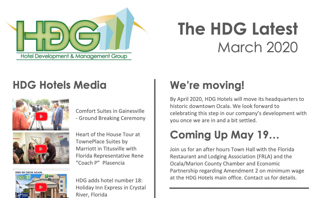 The HDG Latest – March 2020