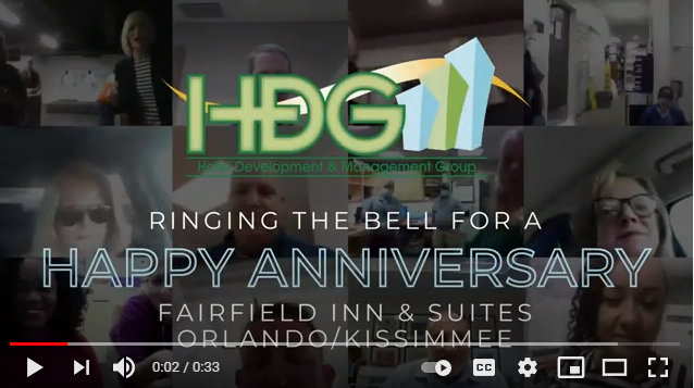 HDG rings the bell to celebrate the anniversary of our Fairfield Inn & Suites by Marriott-Kissimmee