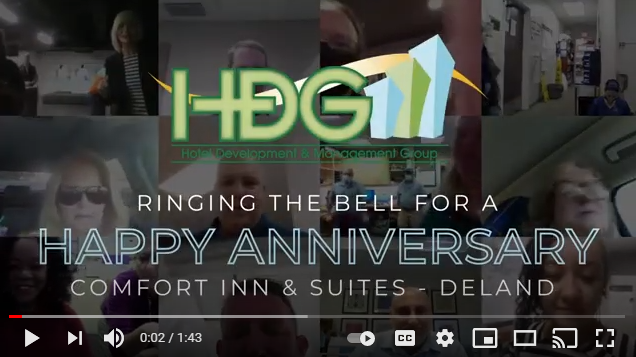 HDG rings the bell to celebrate the anniversary of our Comfort Inn & Suites – DeLand