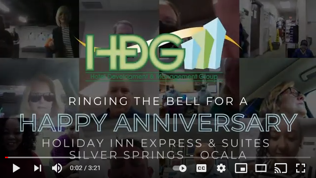 HDG rings the bell for the anniversary of our Holiday Inn Express Silver & Suites Springs/Ocala