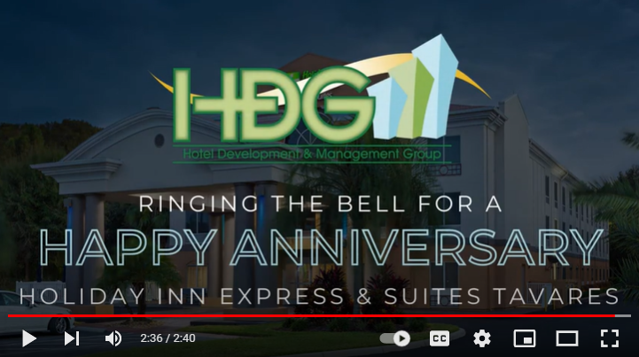 HDG rings the bell to celebrate the anniversary of our Holiday Inn Express & Suites – Tavares