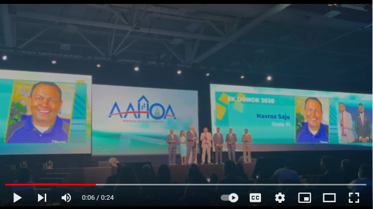 HDG was honored on the main stage at AAHOACON21
