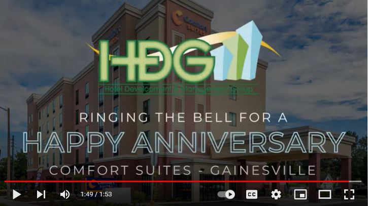 HDG rings the bell for the anniversary of our Comfort Suites – Gainesville